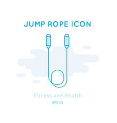Jump rope icon isolated on white vector