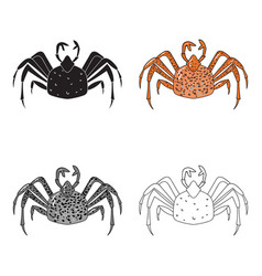 King crab icon in cartoon style isolated on white vector
