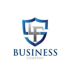 l f shield protect logo designs vector image