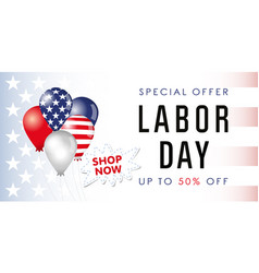 labor day card usa sale banner vector image