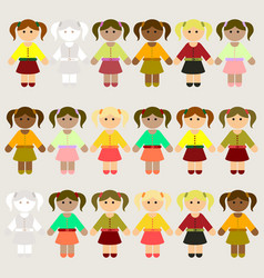 Little kids collection set vector