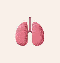 lungs icon isolated on white background vector image