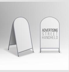 Metal empty blank advertising street handheld vector