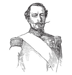 Napoleon iii of france vintage vector