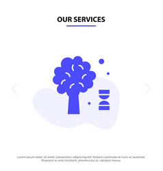 Our services knowledge dna science tree solid vector