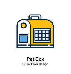 Pet box line color icon vector