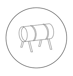 playground tunnel icon in outline style isolated vector image