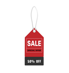 price tag sale special offer 50 off image vector image