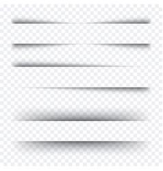 realistic shadows set transparent vector image