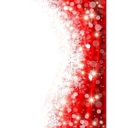 Red Winter Background vector image