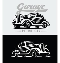 retro cars emblem vector image