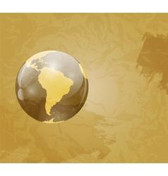 Retro Grunge World Map vector image