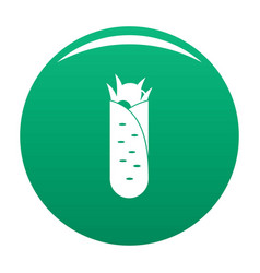 shawarma icon green vector image