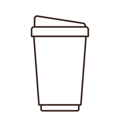 silhouette glass disposable for drinks vector image