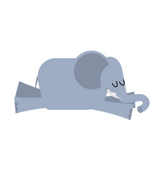 sleeping elephant animal africa is sleeping vector image