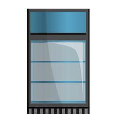 Supermarket fridge icon cartoon style vector