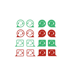Support service icon set vector