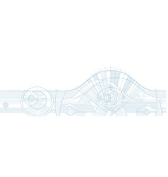 technical background horizontal vector image