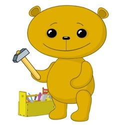 teddy bear worker vector image