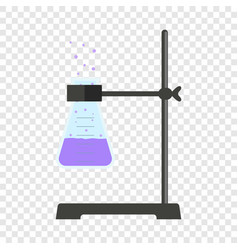 test tube on stand icon flat style vector image