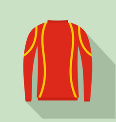 thermo clothes icon flat style vector image