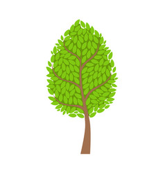 Tree with lush green foliage leaves element a vector