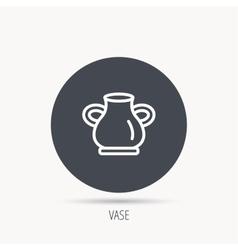 Vase icon Decorative vintage amphora sign vector image