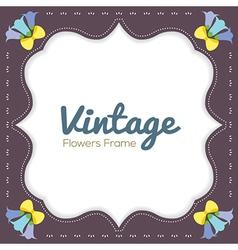 Vintage Flowers Border vector image