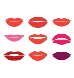 Woman lips set of lips silhouettes Custom vector