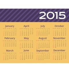 2015 year calendar Editable vector image