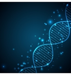Abstract light background with DNA chain vector image