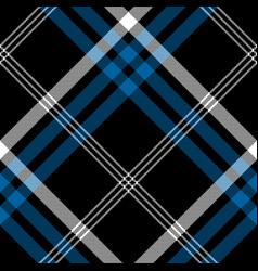 black check pixel square seamless diagonal fabric vector image vector image
