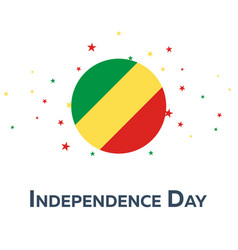 independence day of republic of the congo vector image