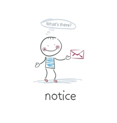 Notice vector image