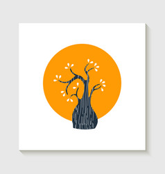 simple cute tree shape concept vector image vector image