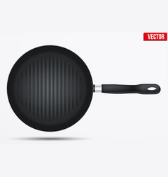 classic metal black grill pan vector image