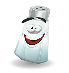 Happy salt shaker character vector