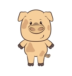 pig animal cartoon vector image vector image