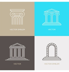set of logo design templates emblems and icons vector image vector image