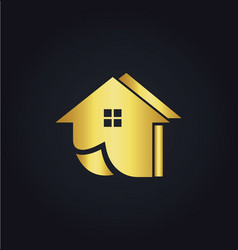 home realty gold logo vector image vector image