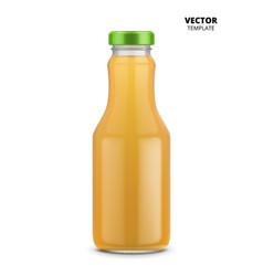 juice bottle glass mockup isolated vector image vector image
