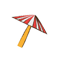 umbrella equipment picnic travel vector image vector image
