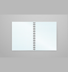 blank open white notebook vector image vector image