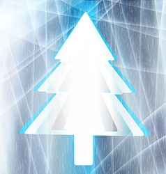 Christmas tree for the frozen window vector image