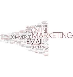 E-marketing word cloud concept vector