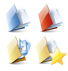Folders set vector image