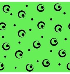 Polka dot and ring seamless pattern vector image