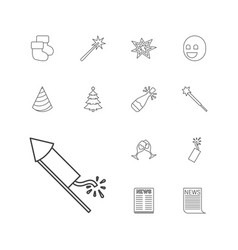 13 new icons vector