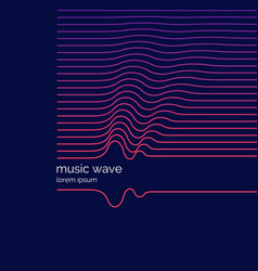 Abstract background with a dynamic musis waves vector