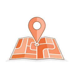 Abstract city map with pointer vector